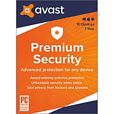 Avast Premium Security 2020 10 Devices