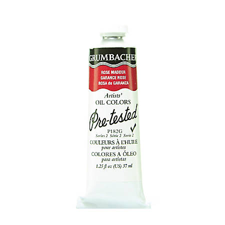 Grumbacher P182 Pre-Tested Artists' Oil Colors, 1.25 Oz, Rose Madder Hue, Pack Of 2