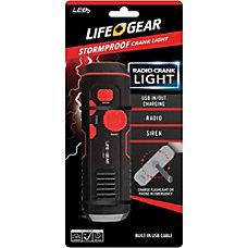 LifeGear Stormproof Crank Light Red Black
