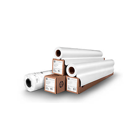 """HP Heavyweight Paper, Coated, 54"""" x 100', 35 Lb, White"""