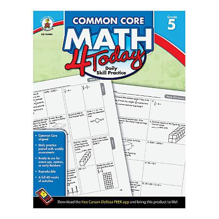 Carson-Dellosa Common Core Math 4 Today, Grade 5