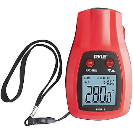 Pyle PMIR15 Mini Infrared Thermometer - Auto-off, Alarm, Hand Strap, Laser Pointer