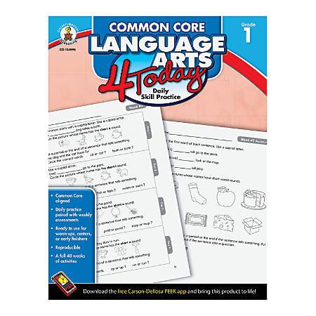 Carson-Dellosa Common Core Language Arts 4 Today, Grade 1