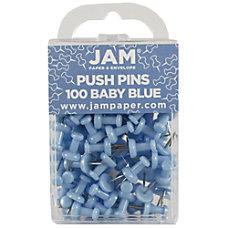JAM Paper Pushpins 12 Baby Blue