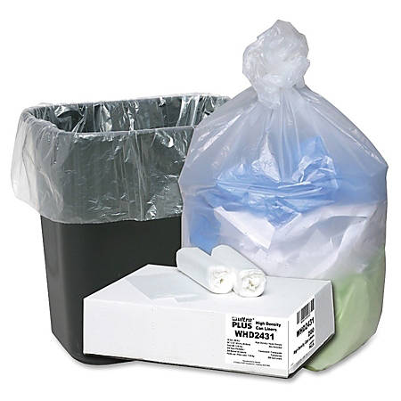 "Webster Ultra Plus™ High-Density Trash Can Liners, 16 Gallons, 8 Mic Thick, 24"" x 33"", Box Of 200"