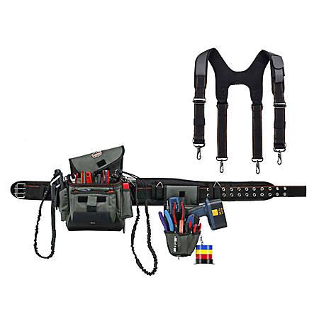 Ergodyne Arsenal Tool Belt, Installer/Drill Holder Tool Rig, Extra-Large, Gray, 5506S