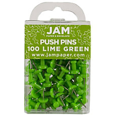 JAM Paper Pushpins 12 Lime Green