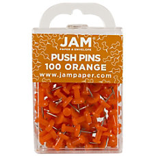 JAM Paper Pushpins 12 Orange Pack
