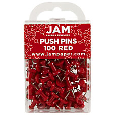 JAM Paper Pushpins 12 Red Pack