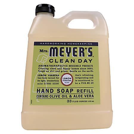 Mrs. Meyer's Clean Day Liquid Hand Soap, Lemon Scent, 33 Oz, Pack Of 6 Bottles
