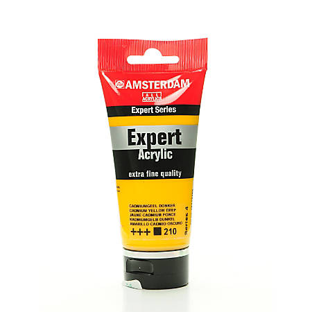 Amsterdam Expert Acrylic Paint Tubes, 75 mL, Cadmium Yellow Deep, Pack Of 2