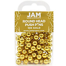 JAM Paper Pushpins Round 12 Rose