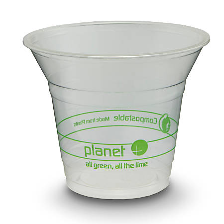 StalkMarket® Planet+ Compostable Cold Cups, 9 Oz, Clear, Pack Of 1,000 Cups