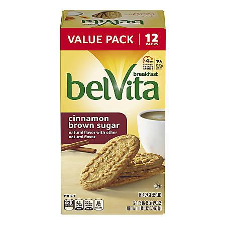 BELVITA Breakfast Biscuits Cinnamon Brown Sugar, 12 Count, 3 Pack
