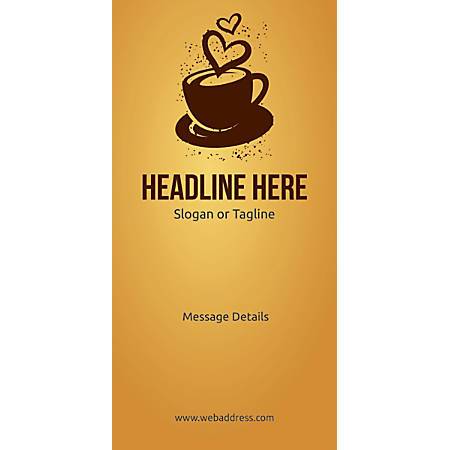 Custom Vertical Display Banner, Love For Coffee
