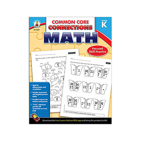 Carson-Dellosa Common Core Connections Math, Grade K