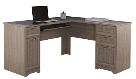 Reale Magellan Collection L Shaped Desk Gray By Office Depot Officemax
