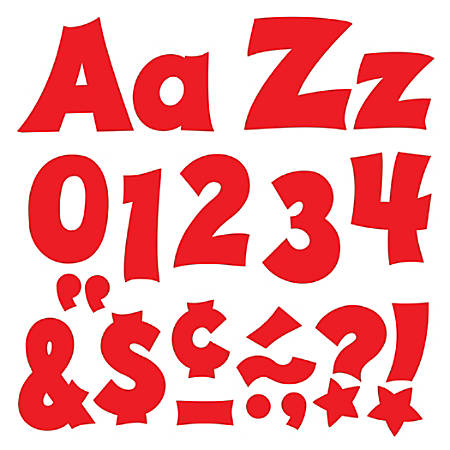 """TREND Ready Letters®, Friendly Uppercase/Lowercase Combo, 4"""", Red, Pre-K - Grade 12, Pack Of 225"""