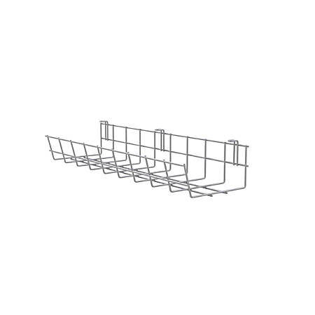 "Mayline® Wire Management Basket, 3 5/16""H x 24""W x 5 11/16""D, Silver"