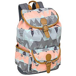 Emma Chloe Cotton Drawstring Backpack Grey