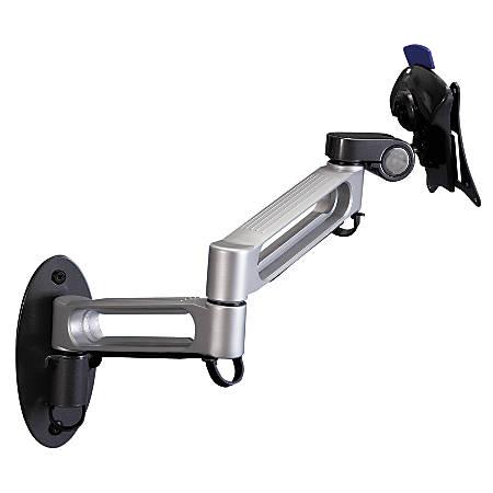 "Balt® Dual-Arm Wall Mount, 7"" x 17"" x 15"", Gray/Black"