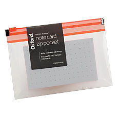Oxford At Hand Note Card Zip