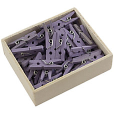 JAM Paper Wood Clip Clothespins 78