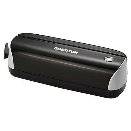 Bostitch® Electric Or Battery-Powered 3-Hole Punch, Black/Silver