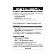 ComplyRight State Specialty Poster English Massachusetts