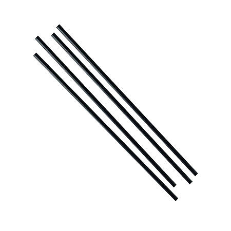 """Individually Wrapped Paper Straws, 8"""", Black, Case Of 600 Straws"""