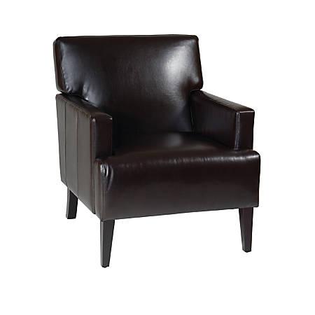 Ave Six Carrington Arm Chair, Espresso/Dark Brown