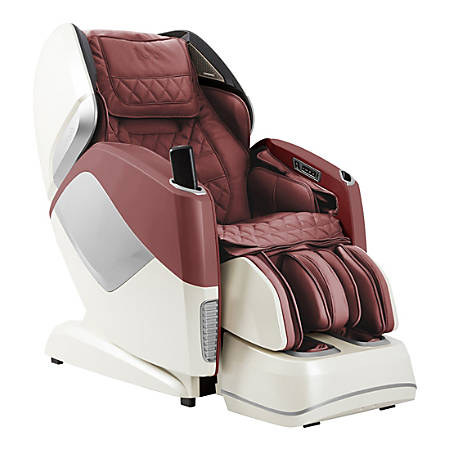 Osaki Pro Maestro 4-D Full-Body Massage Chair, Burgundy/Beige