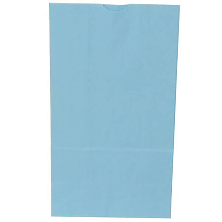 """JAM Paper® Kraft Lunch Bags, 11""""H x 6""""W x 3-3/4""""D, Baby Blue, Box Of 500 Bags"""