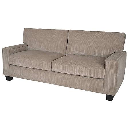 "Serta Deep-Seating Palisades Sofa, 78"", Beige/Espresso"