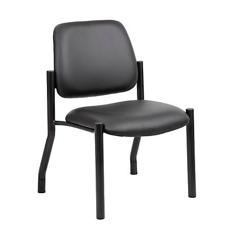 Boss Mid-Back Guest Chair, Armless, Black