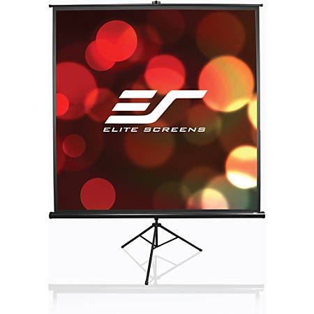 Elite Screens Tripod Series - 100-INCH 4:3, Portable Pull Up Home Movie/ Theater/ Office Projector Screen, 8K / ULTRA HD, 2-YEAR WARRANTY, T100UWV1""