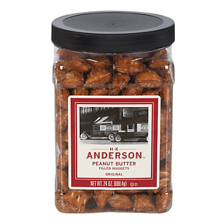 H.K. Anderson™ Peanut Butter-Filled Pretzel Nuggets, 24-Oz Tub