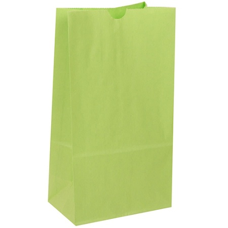 Jam Paper Medium Kraft Lunch Bags 9 3 4 H X 5 W D Lime Green Pack Of 500 Item 8230376