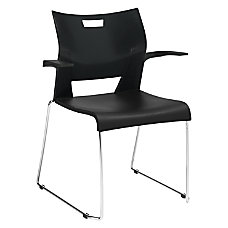 Global Duet Stacking Chair With Arms