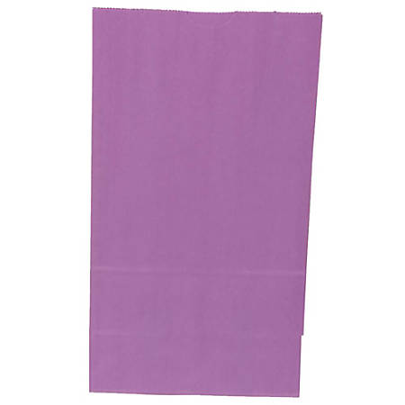 "JAM Paper® Small Kraft Lunch Bags, 8""H x 4-1/8""W x 2-1/4"", Purple, Pack Of 500 Bags"