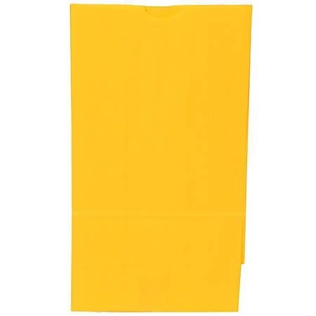 "JAM Paper® Kraft Lunch Bags, 11""H x 6""W x 3-3/4""D, Yellow, Box Of 500 Bags"