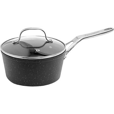 Starfrit The Rock Saucepan, 1 Qt, Black
