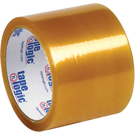 """Tape Logic® #51 Natural Rubber Tape, 3"""" Core, 3"""" x 110 Yd., Clear, Case Of 24"""