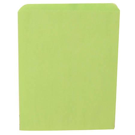 "JAM Paper® Medium Merchandise Bags, 11""H x 8-1/2""W x 1/2""D, Lime Green, Pack Of 1,000 Bags"