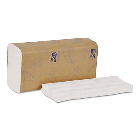 """Tork® Advanced 1-Ply Multi-Fold Hand Towels, 14 1/2"""" x 8 7/16"""", White, Pack Of 150 Towels, Carton Of 16 Packs"""