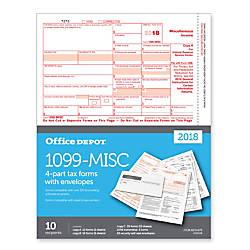 Office Depot Brand 1099 MISC InkjetLaser