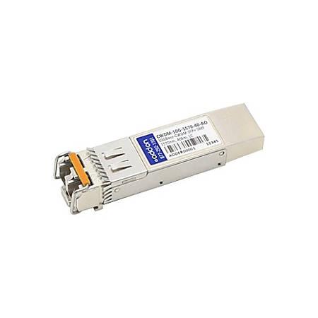 AddOn Cisco CWDM-10G-1570-40 Compatible TAA Compliant 10GBase-CWDM SFP+ Transceiver (SMF, 1570nm, 40km, LC)