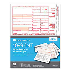 Office Depot Brand 1099 INT InkjetLaser