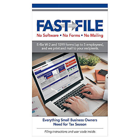 ComplyRight™ FAST FILE Print, Mail And E-File For Small Business, Pack Of 5 E-Filings