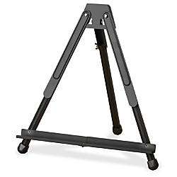 Quartet Portable Aluminum Easel Black Surface